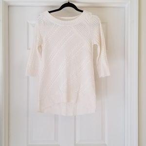 New York & Company XSmall White Knit Sweater